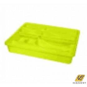 Evőeszköztartó, műanyag, emeletes, színes, SA136