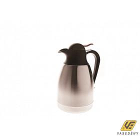 Nyomógombos termosz, 1 liter, rozsdamentes, csőrös, VR0024