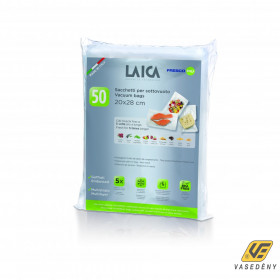 Laica Vákuum légcsatornás, extra erős, BPA mentes csomagoló tasak, 20 x 28 cm, 50 db , VT35042