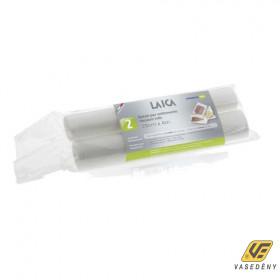 Laica Vákuum légcsatornás, extra erős, BPA mentes csomagoló tömlő,  28x400cm 2 db tekercs, VT3602