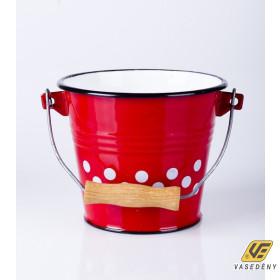 Zománcozott vödör vegyes mintával 10 liter